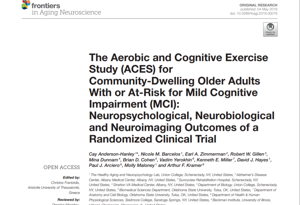 The Aerobic and Cognitive Exercise Study (ACES) for Community-Dwelling Older Adults With or At-Risk for Mild Cognitive Impairment (MCI): Neuropsychological, Neurobiological and Neuroimaging Outcomes of a Randomized Clinical Trial